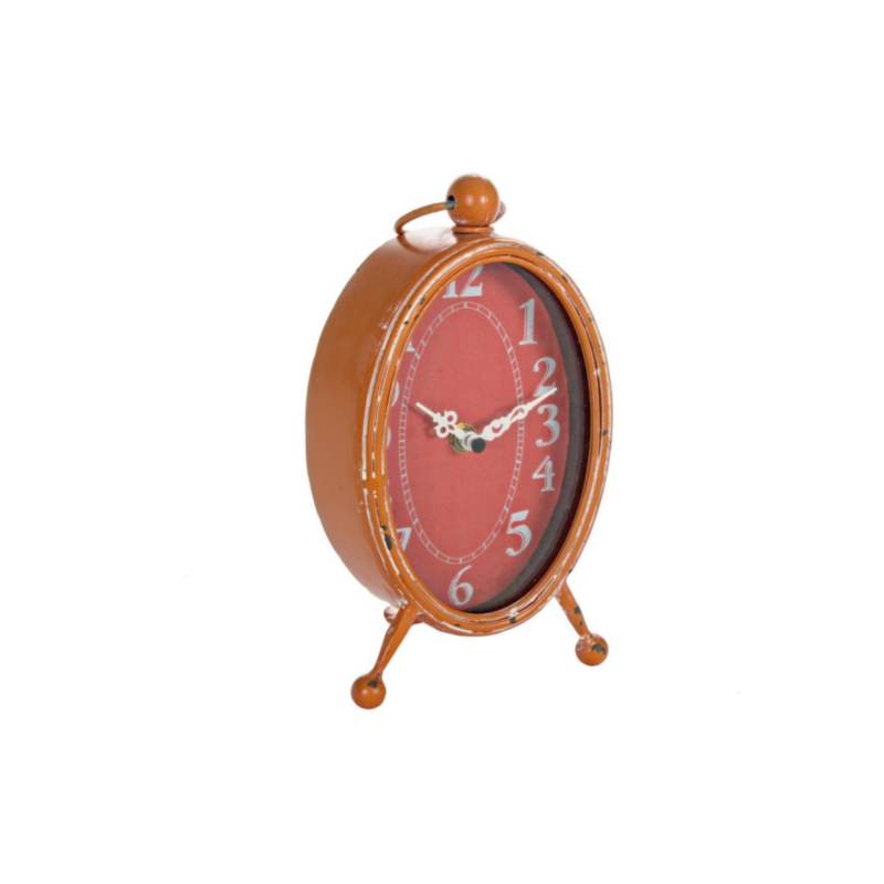 ARTHUR ORANGE TABLE CLOCK