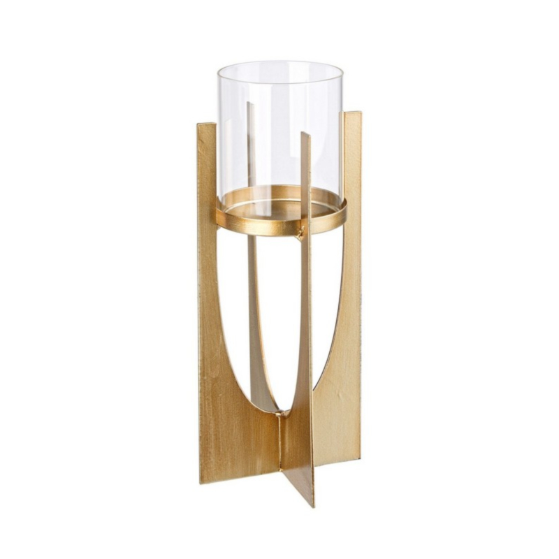 ADHIRA GOLD CANDLE HOLDER H30