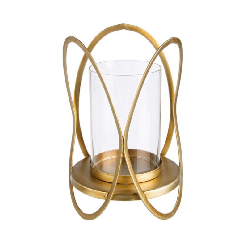 ADHIRA GOLD CANDLE HOLDER H39