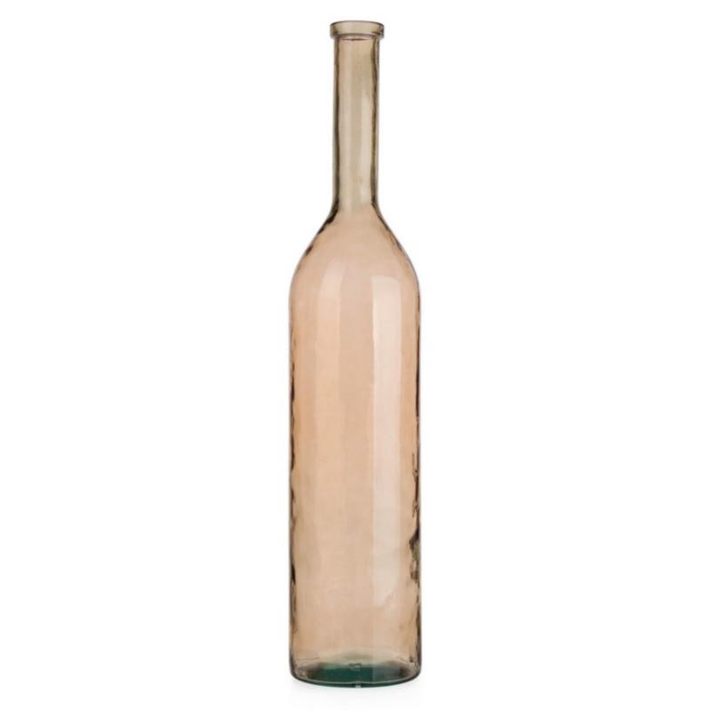 ALMERIA BEIGE GLASS BOTTLE H100