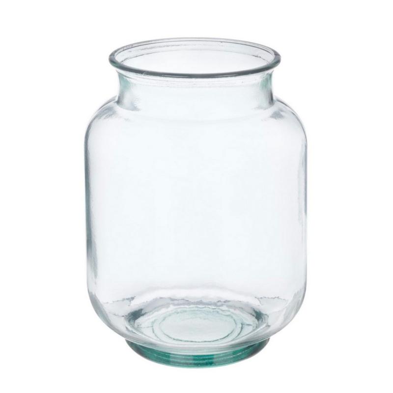 CANDLE TRANSP GLASS VASE H25