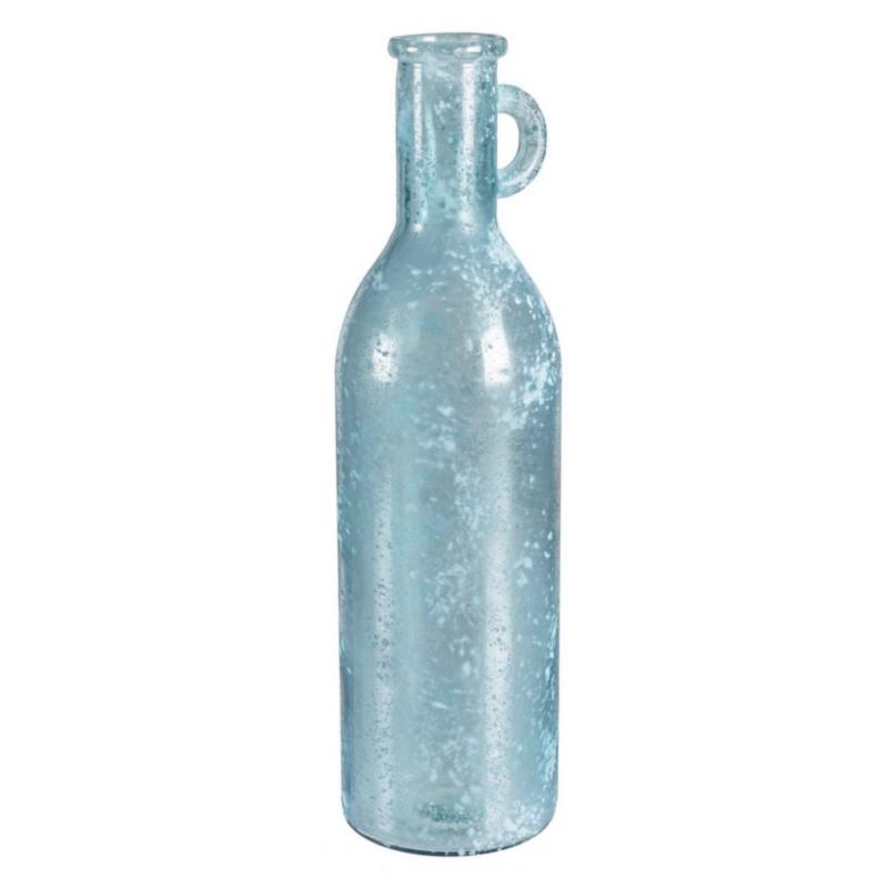 ARLEEN BLUE SEA GLASS BORDOLESE VASE H50