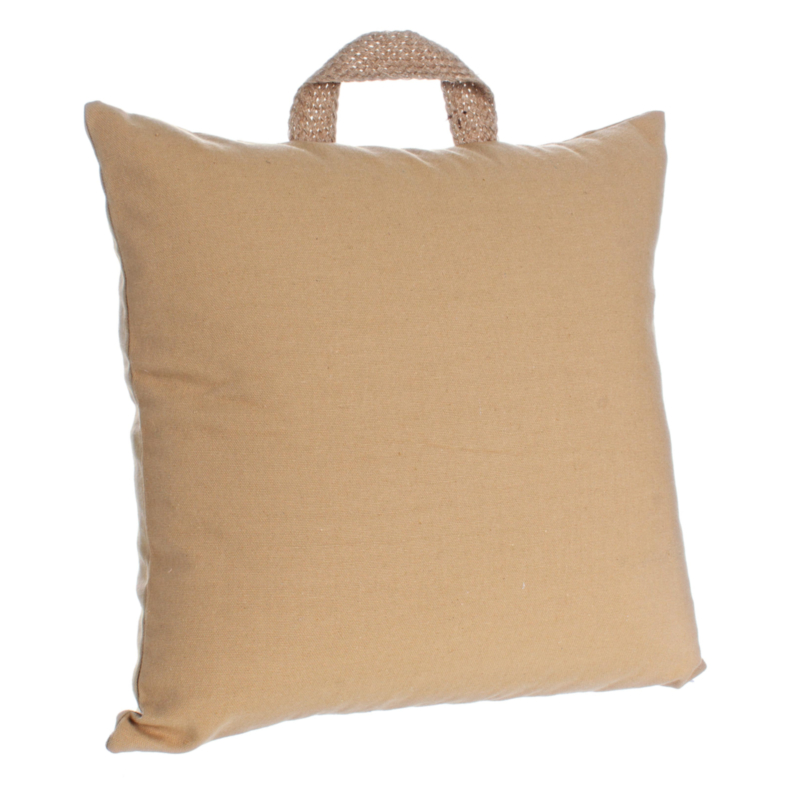 COUSSIN EMOTION MOUTARDE 45X45