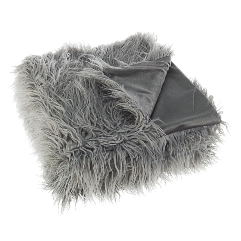 ALESHA GREY THROW 120X150