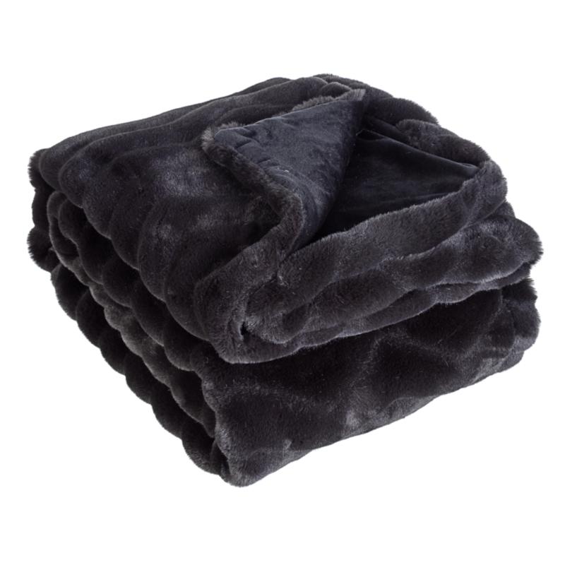 CHANTEL BLACK THROW 120X150