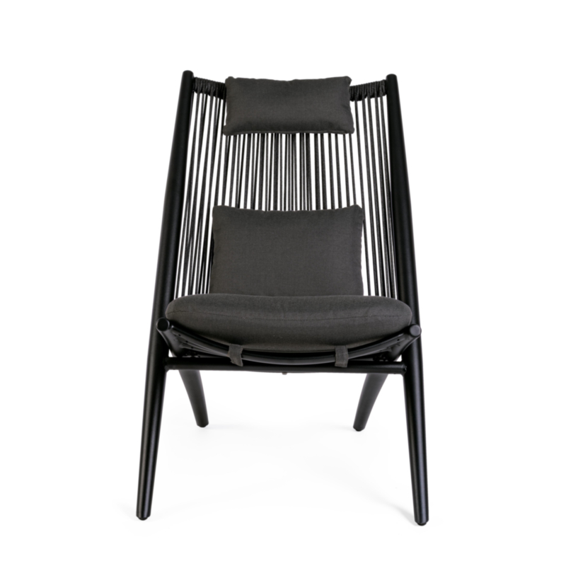 ALOHA NEW BLACK XK04 LOUNGE ARMCHAIR W-C