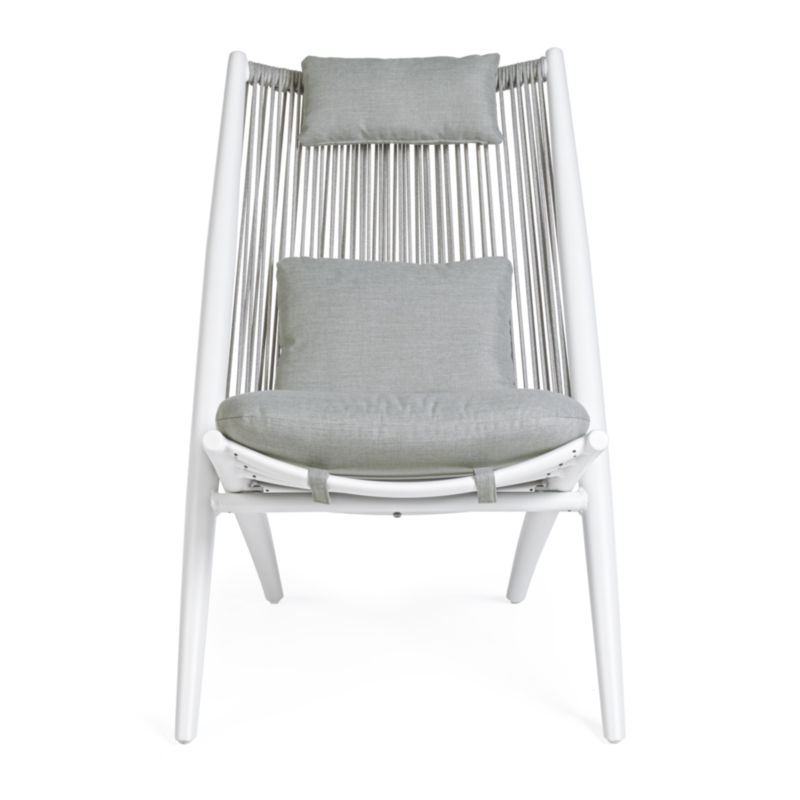 ALOHA NEW WHITE XK03 LOUNGE ARMCHAIR W-C