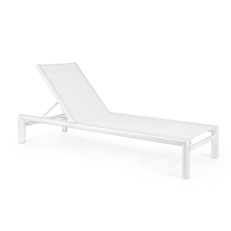 SKIPPER WHITE YK11 SUNBED W-WHEELS