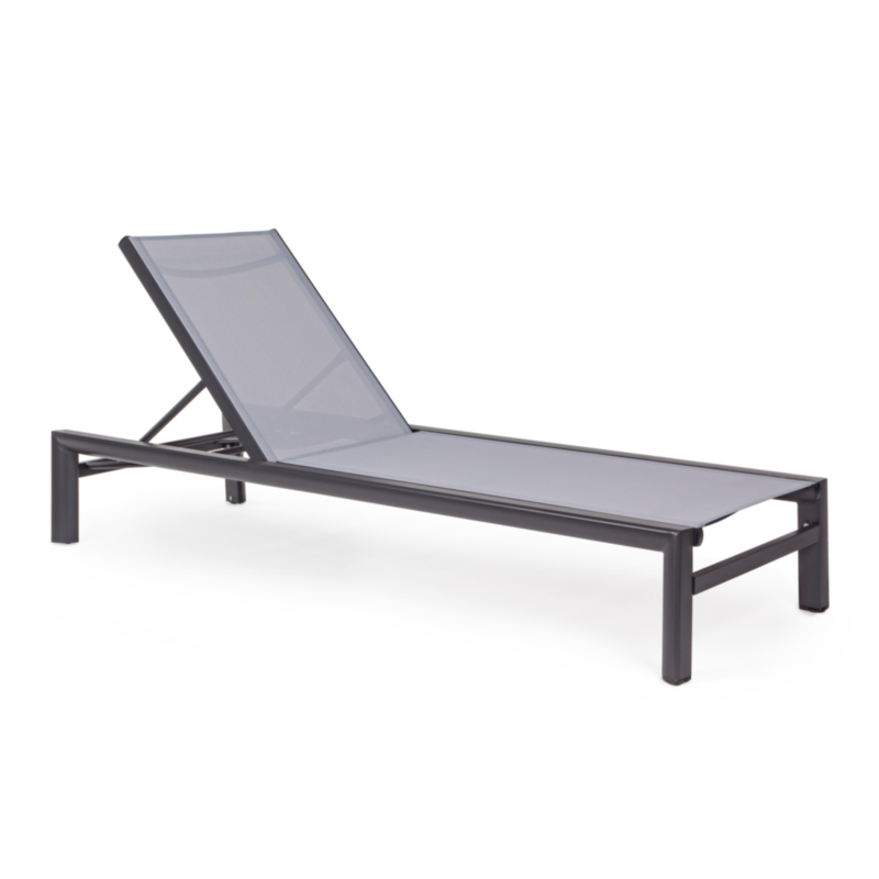 SKIPPER CHARCOAL YK13 SUNBED W-WHEELS