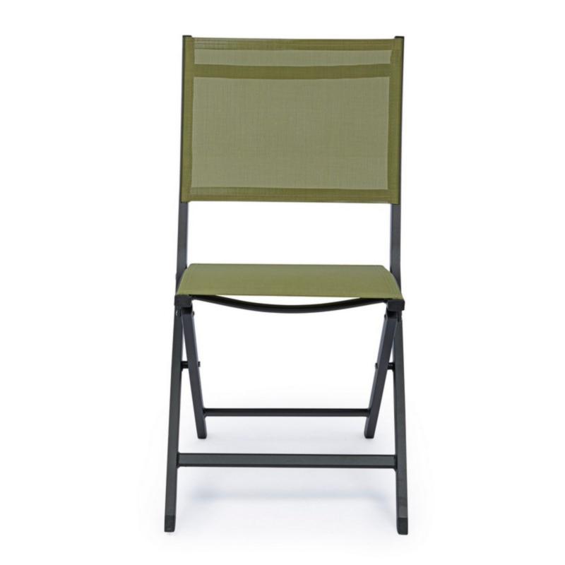 ELIN CHARCOAL LH32-GREEN FOLDING CHAIR