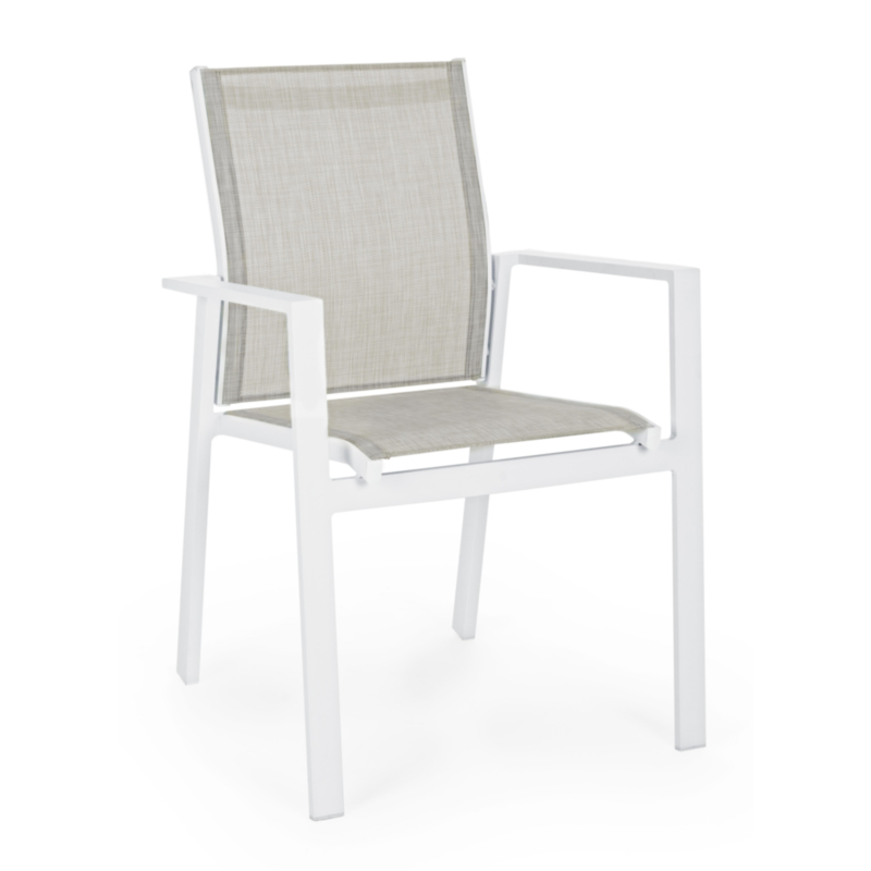 CROZET WHITE SJ60 CHAIR W-ARMRESTS