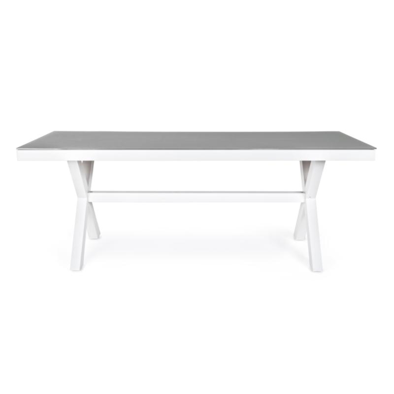 TABLE AC-V CROZET 200X89 BLANC SJ60