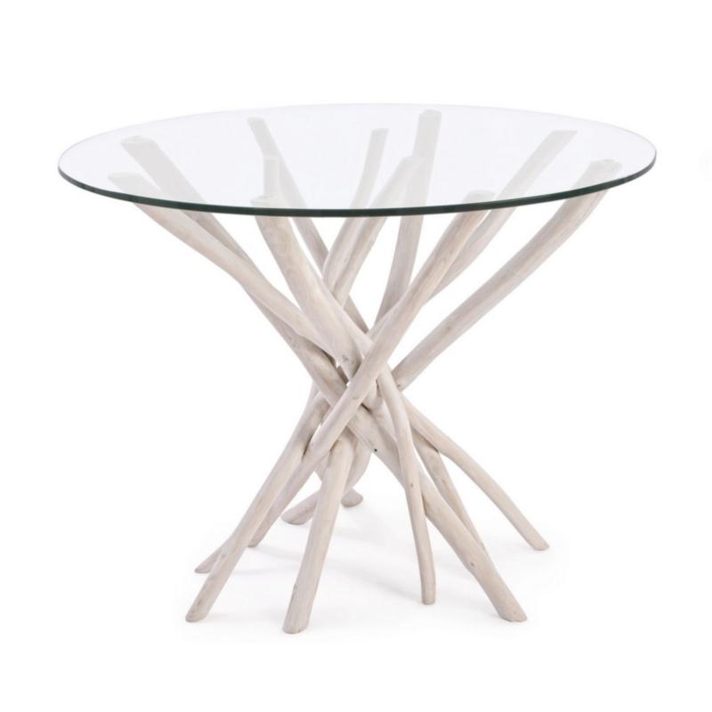 TABLE AC-VERRE SAHEL RD 110X110