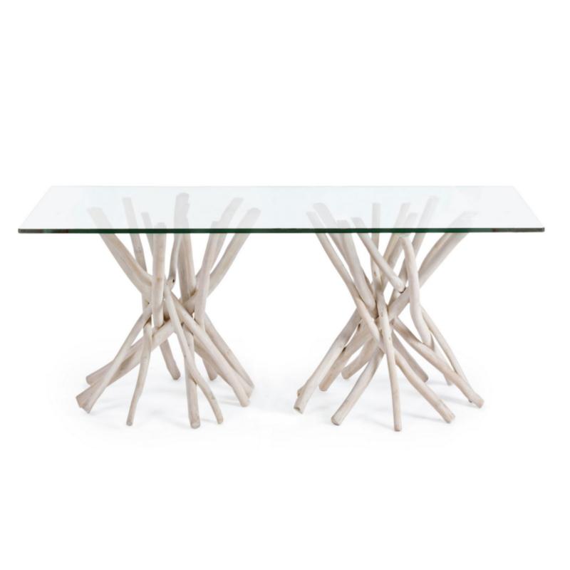 TABLE AC-VERRE SAHEL RECT 200X100