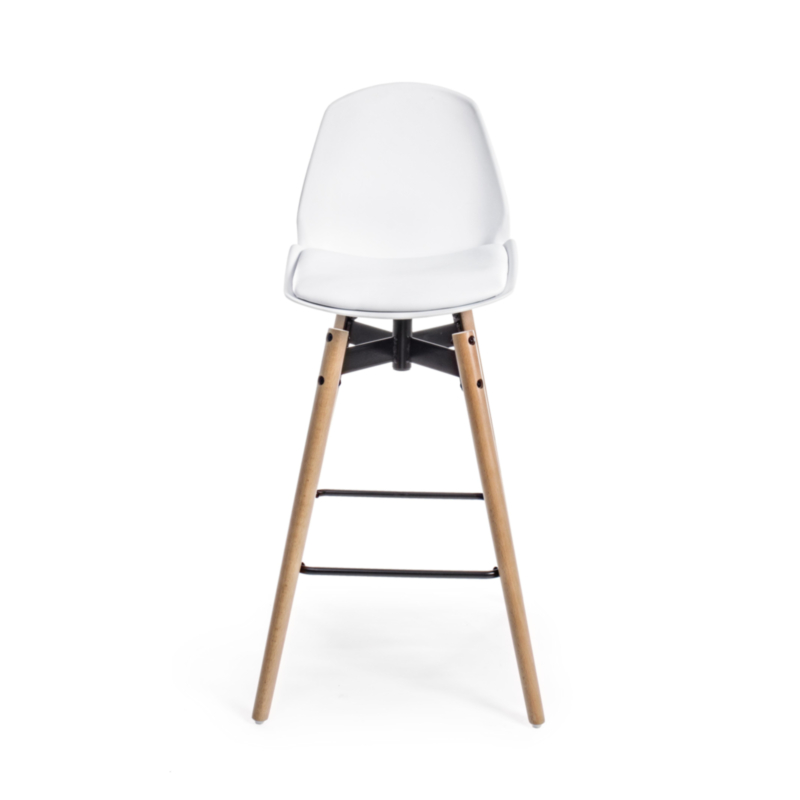 TABOURET BAR ARSENAL BLANC