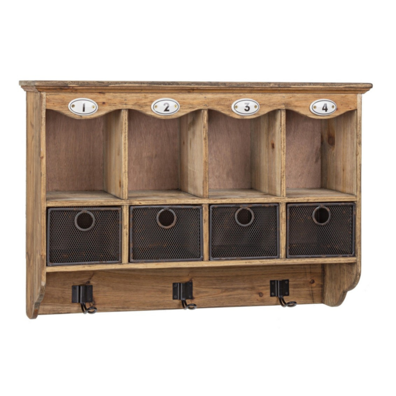 OFFICINA WALL CABINET 4DR-3HOOKS
