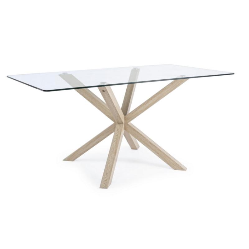 MAY RECTANGULAR TABLE NATURAL LEG 160X90