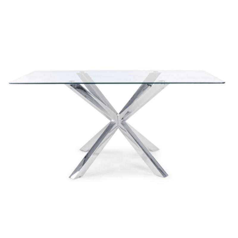 MAY RECTANGULAR TABLE STEEL LEG 160X90
