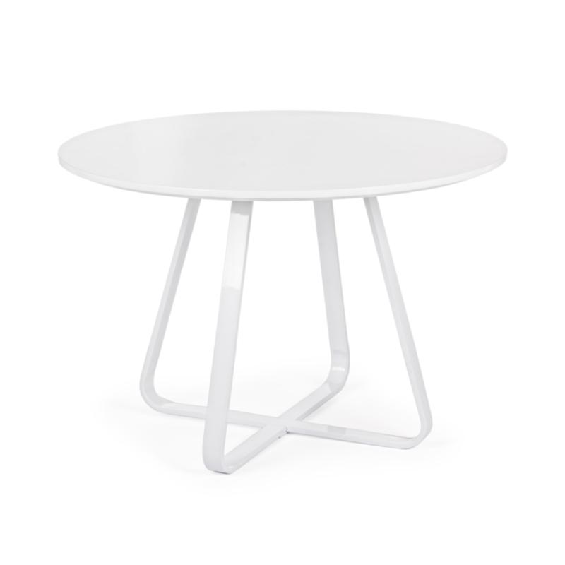 AXELLE ROUND WHITE TABLE D110