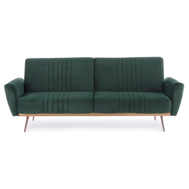 JOHNNY DARK GREEN VELVET SOFA BED