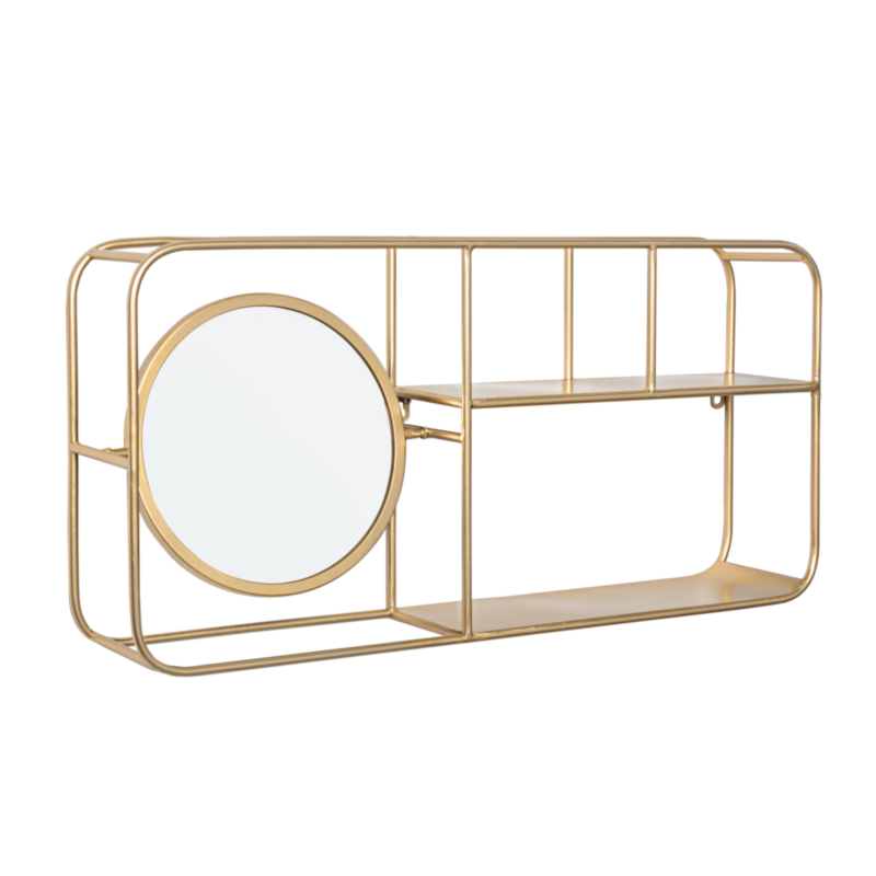 NUCLEOS GOLD SHELF WITH MIRROR