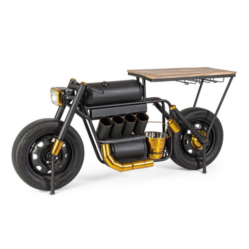 MOBILE BAR IN ACCIAIO - MOTO SPEED