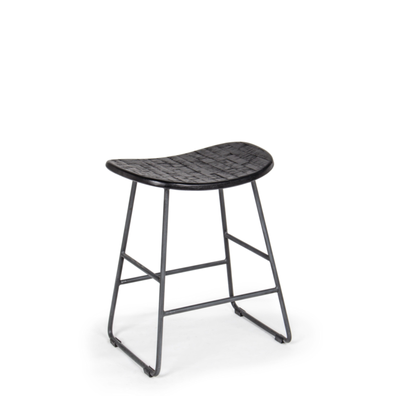 ADDISON BLACK STOOL