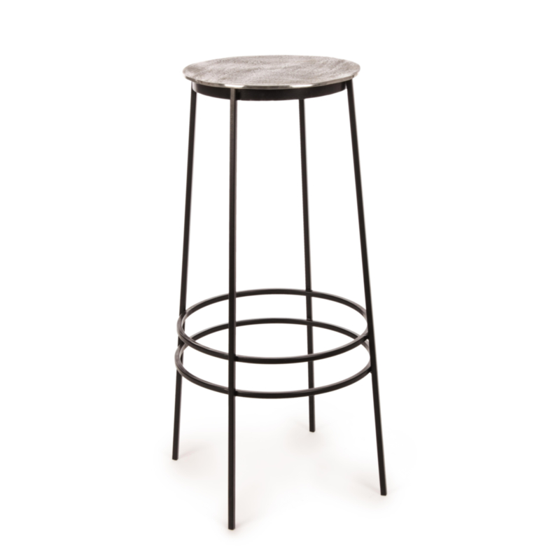 TABOURET BAR AMIRA NICKEL H77