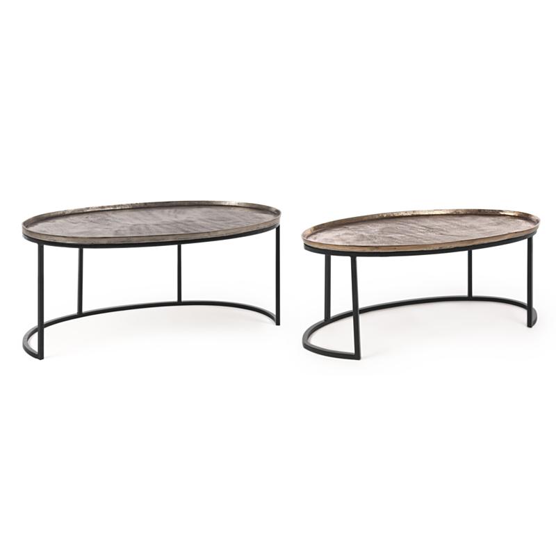 SET2 TABLE BASSE AMIRA X26 OVALE