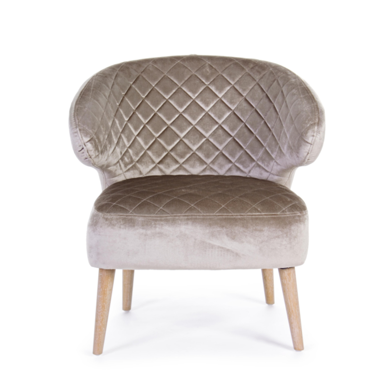 BERTRAND TAUPE CHAIR