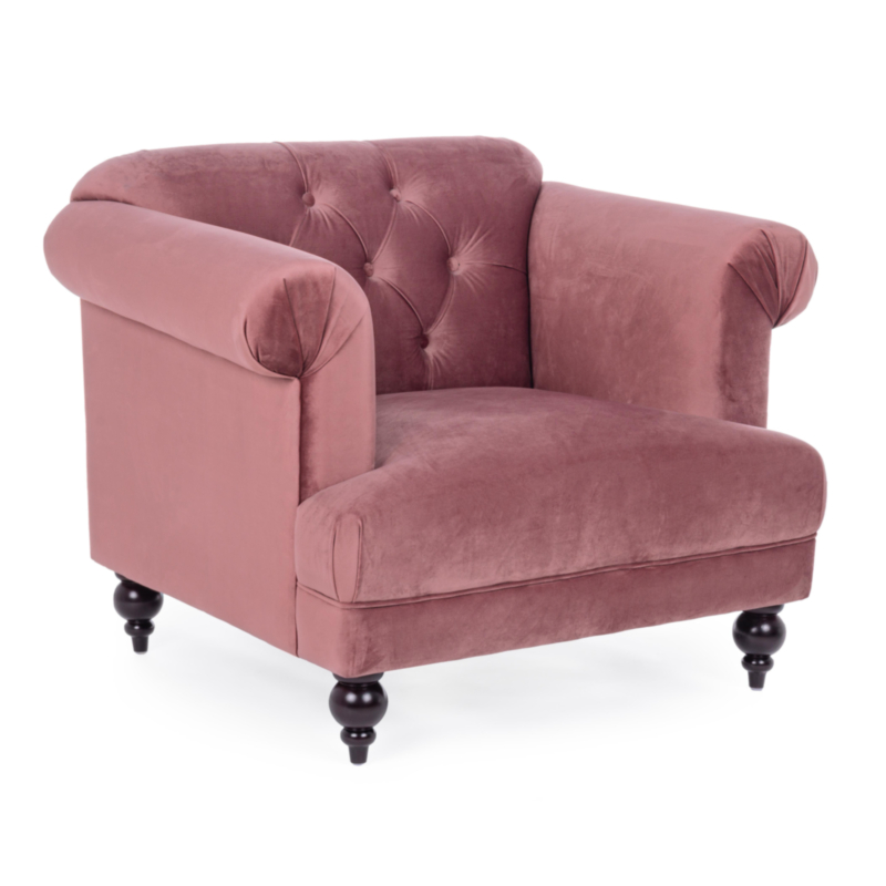BLOSSOM ANTIQUE PINK ARMCHAIR