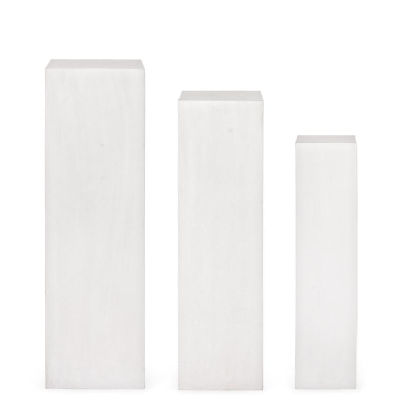 SET3 MELANGE WHITE SQUARE COLUMN