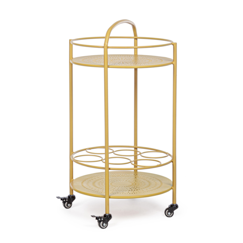 BURTON OCHER TROLLEY W-BOTTLE RACK