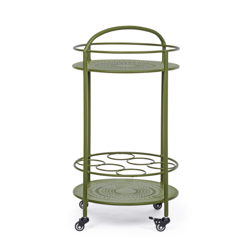 BURTON FOREST TROLLEY W-BOTTLE RACK