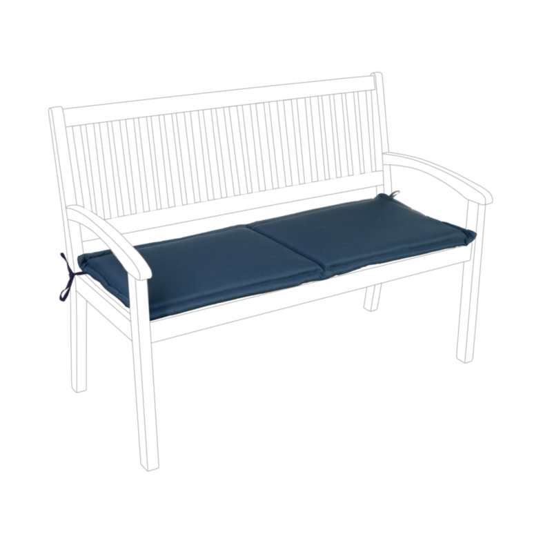 BLUE POLY180 CUSHION FOR BENCH 2 SEATS