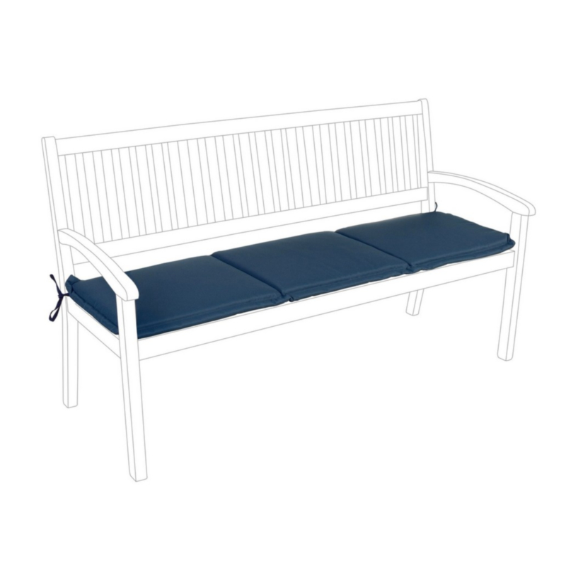 BLUE POLY180 CUSHION FOR BENCH 3 SEATS