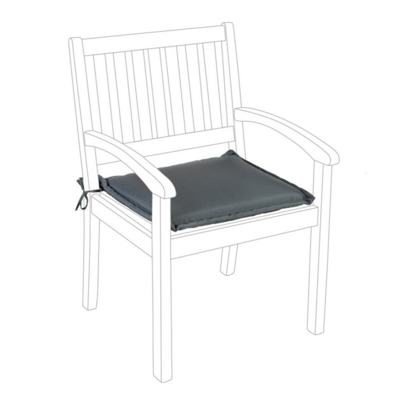 ANTHRACITE POLY180 CUSHION FOR ARMCHAIR