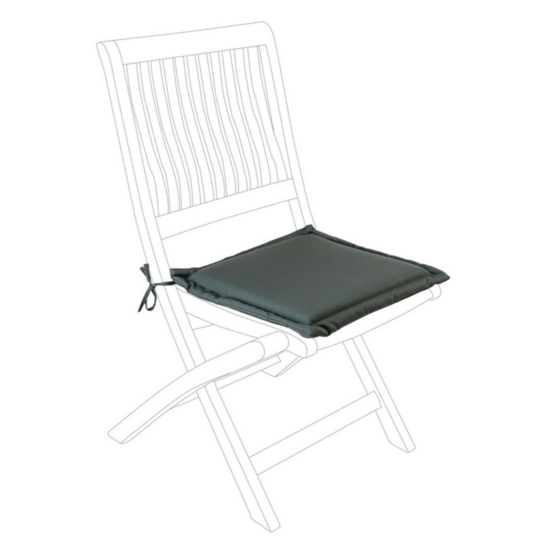 ANTHRACITE POLY180 SQUARE SEAT CUSHION