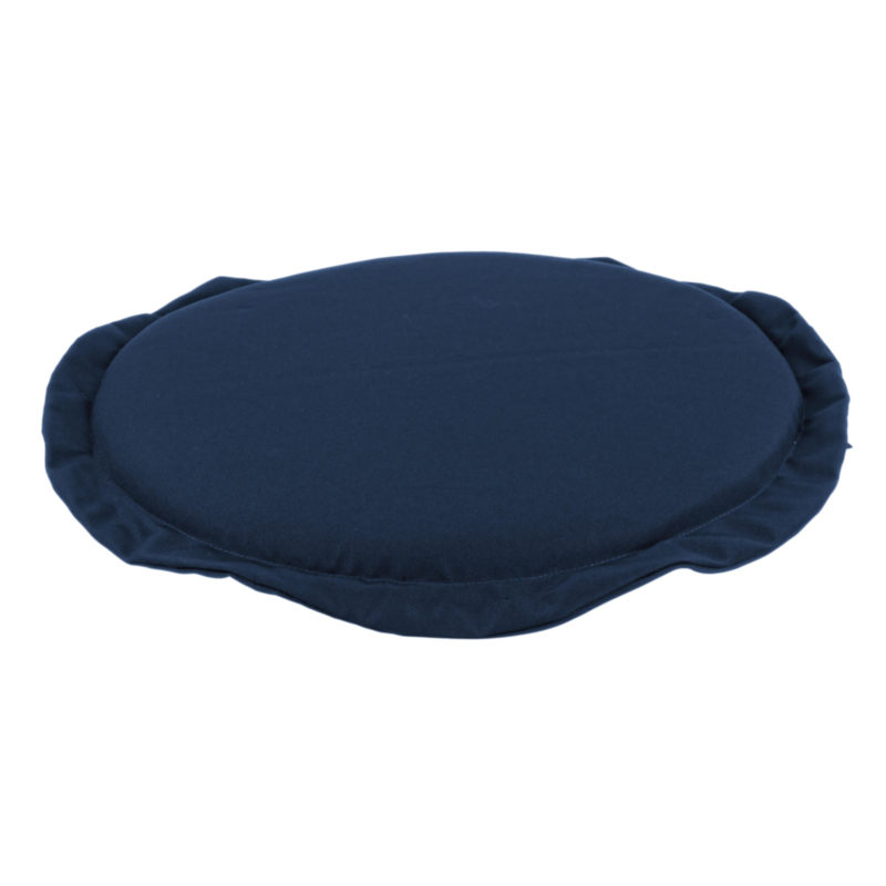 COUSSIN BLEU ASSISE RONDE POLY180