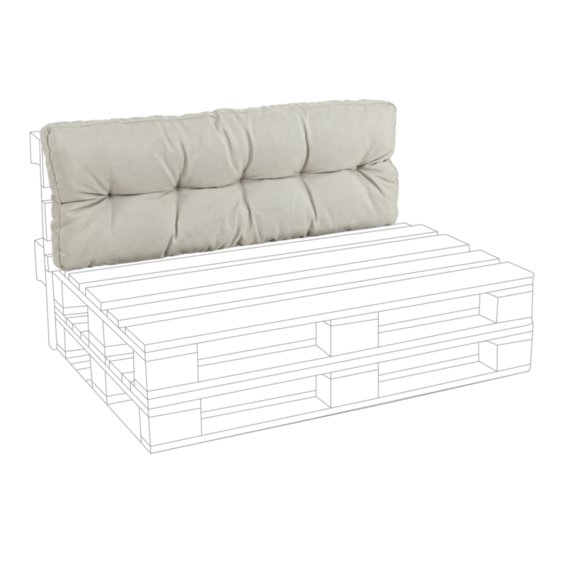 BEIGE POLY230 BACK PALLET CUSHION