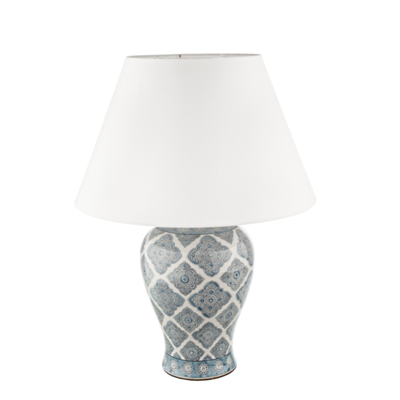 ARABESQUE PORCELAIN TABLE LAMP H64
