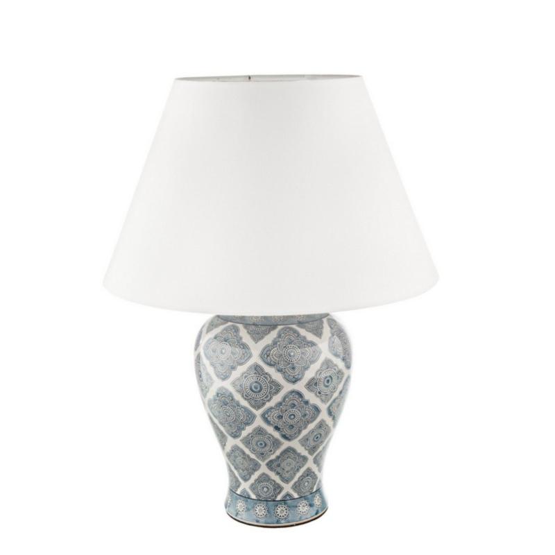 LAMPE DE TABLE ARABESQUE PORCELAINE H64