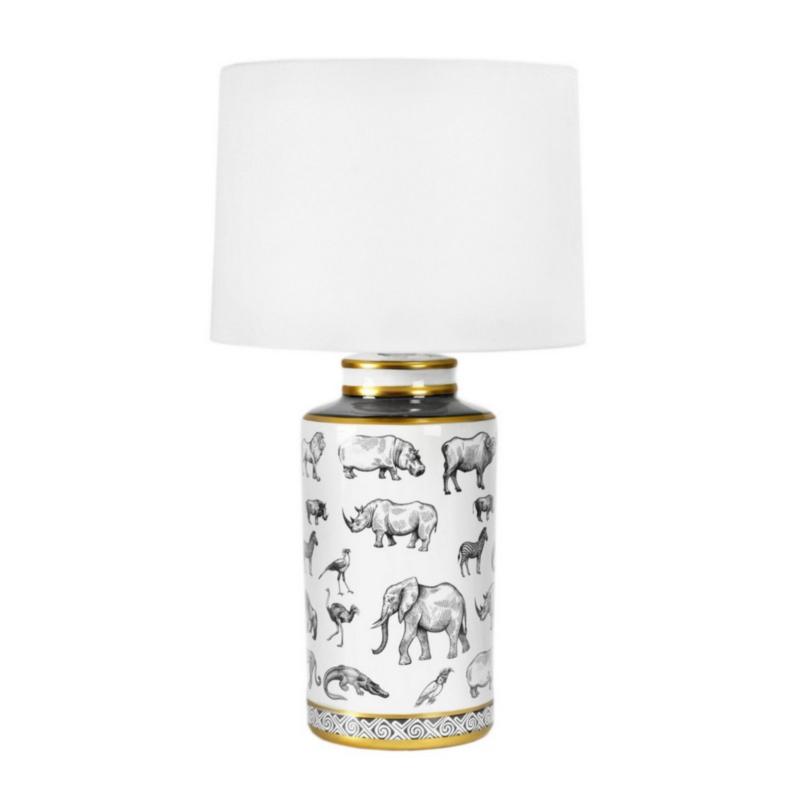 LAMPE DE TABLE AFRIQUE PORCELAINE H63