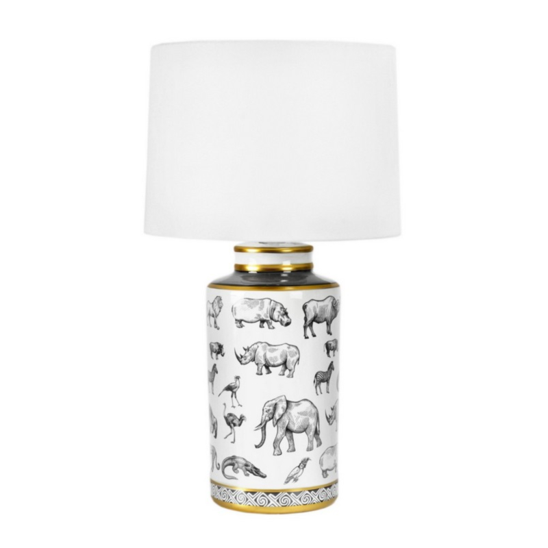 AFRICA PORCELAIN TABLE LAMP H63