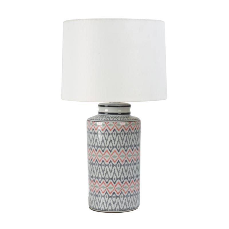 LAMPE DE TABLE CONGO PORCELAINE H63