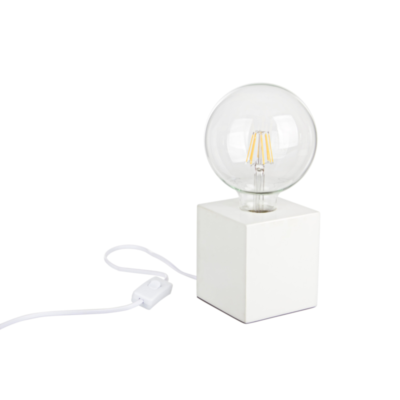 LAMPE DE TABLE DEREK BLANC