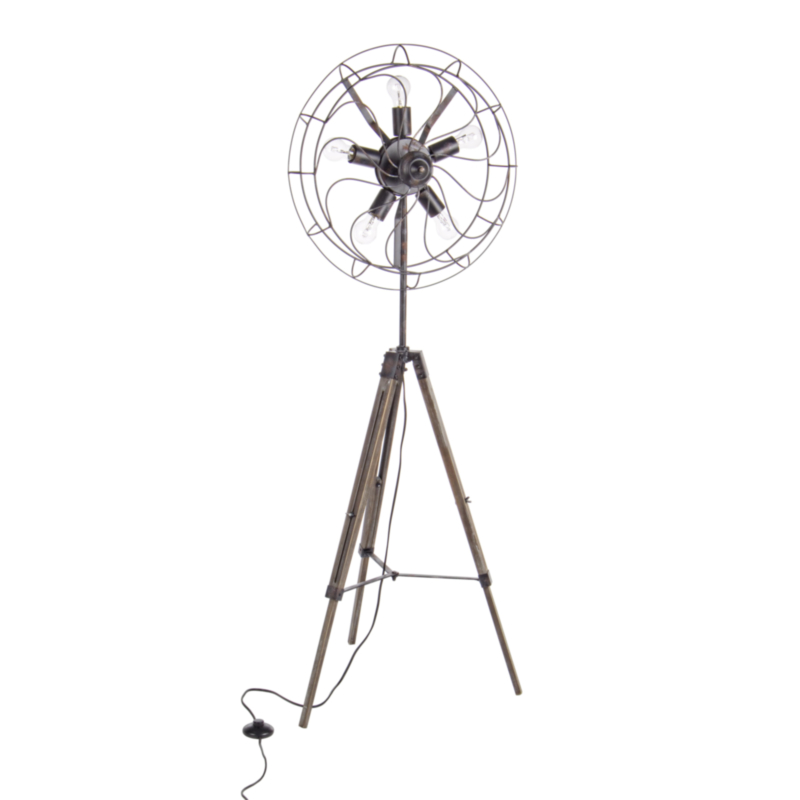 AIR BLACK TRIPOD FLOOR LAMP 5BULBS H167