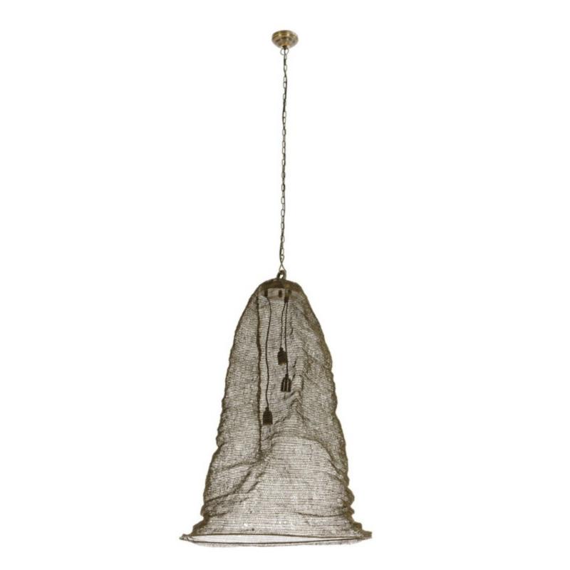 AMISH PENDAT LAMP LONG BRASS