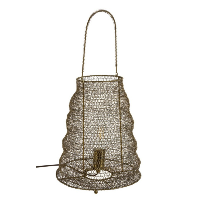 LAMPE DE TABLE AMISH BRASS