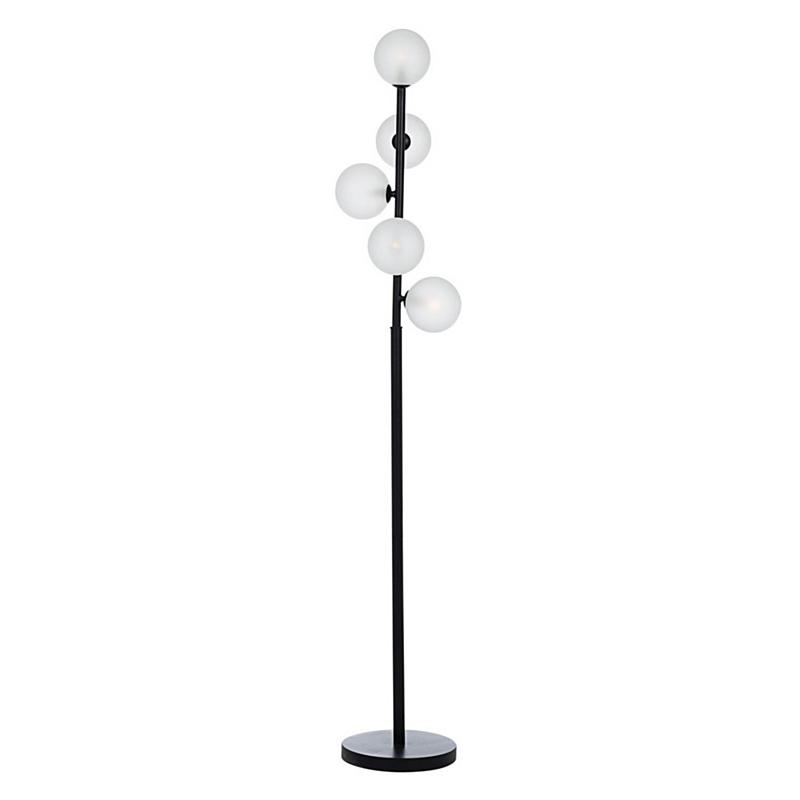 BALLS BLACK FLOOR LAMP 5BULBS H156